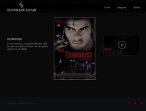 professional website design for the terrorist movie stargaze films